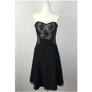 White House Black Market Lace Bustier Lined Dress